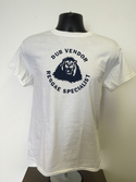 Dub Vendor Reggae Specialist T-Shirt - ROUNDEL - White/ Navy (Various Sizes)